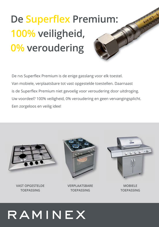 Raminex Superflex gasslang informatie